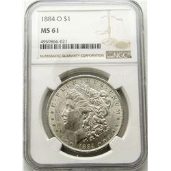 1884-O Morgan Silver Dollar $ NGC MS 61