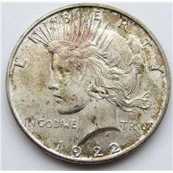 1922 PEACE DOLLAR UNC
