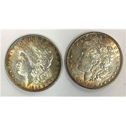 1897 & 1886 MORGAN SILVER DOLLARS