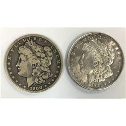 1921 & 1900-O MORGAN SILVER DOLLARS
