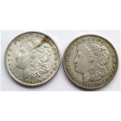 2 - 1921 MORGAN DOLLARS