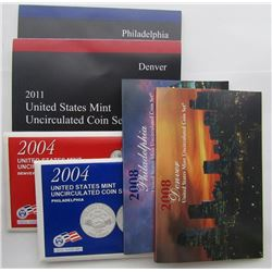 2008, 2011, 2004 U.S. MINT SETS