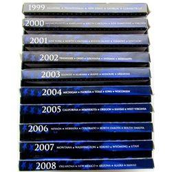1999 THRU 2008 U.S. PROOF QTR SETS