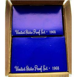 10 - 1968 U.S. PROOF SETS