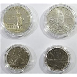 1986 CONGRESSIONAL 2 COIN UNC SET;