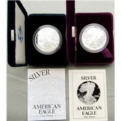 1989 & 2000 PROOF AMERICAN SILVER EAGLE