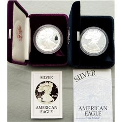1986 & 2000 PROOF AMERICAN SILVER EAGLE