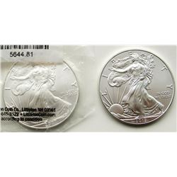 2007 & 2012 .999 SILVER ONE OUNCE EAGLE