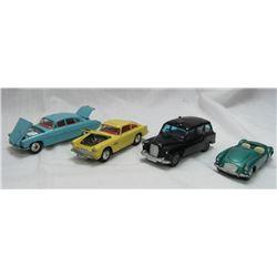 4 VINTAGE CORGI TOYS CARS.
