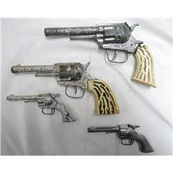 4 TOY GUNS
