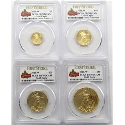 2016-W 4 COIN SET; 1 OZ. $50, 1/2 OZ. $25, 1/4 OZ.