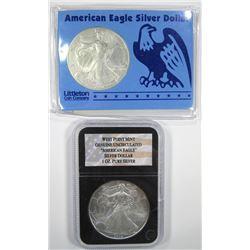 1998 & 2009 .999 SILVER ONE OUNCE EAGLE