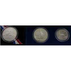 1986 2 coin STATUE of LIBERTY PRF SET;