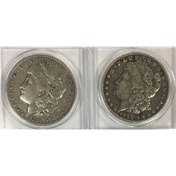 1899-O & 1889 MORGAN SILVER DOLLARS
