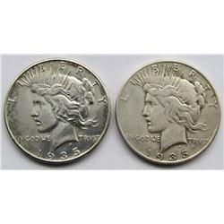 1935 & 1935-S PEACE DOLLARS