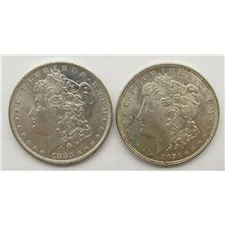 1883-O & 1921 MORGAN SILVER DOLLARS