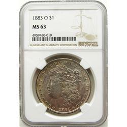 1883-O Morgan Silver Dollar $ NGC MS 63