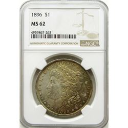 1896-P Morgan Silver Dollar $ NGC MS 62 Nicely Ton