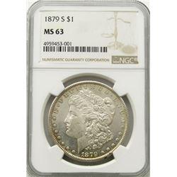 1879-S Morgan Silver Dollar $ NGC MS 63