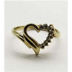 10K GOLD HEART SHAPE LADIES RING