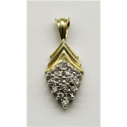 10K GOLD AND DIAMOND PENDANT