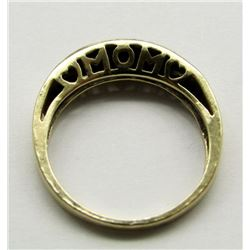"""10K GOLD AND DIAMOND """"MOM"""" RING"""