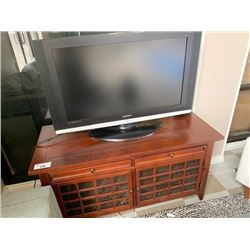 MAHOGANY 2 DRAWER, DOUBLE DOOR ENTERTAINMENT CONSOLE