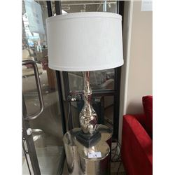 PAIR OF CHROME BAMBOOESQUE TABLE LAMPS