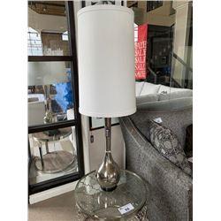 PAIR OF NICKEL BULB VASE TABLE LAMPS