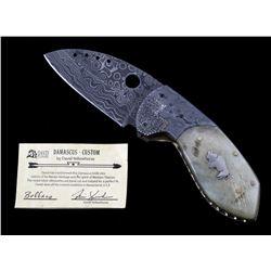Navajo David Yellowhorse Damascus Buffalo Knife