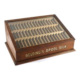 Belding's Spool Silk Display Cabinet c. 1890
