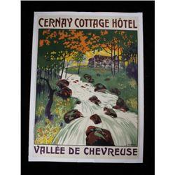 1920 J. Gabriel Cernay Cottage Hotel Linen Poster