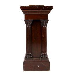 1920's-1930's Hand Carved Oak Slot Machine Stand