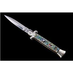 Latama Cutlery Italian Abalone Switchblade RARE