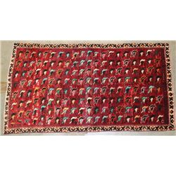 Early 20th C. Hand Woven Persian Gabbeh Rug