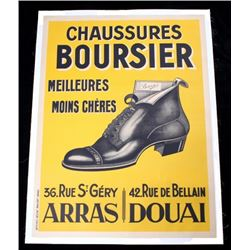 1920s French Art Deco Poster, Chaussares Boursier