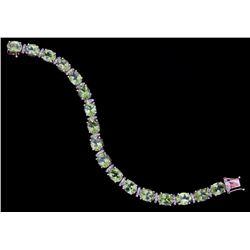 32.01 ct Peridot Yellow Gold Overlay 925 Bracelet