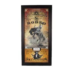 Deadwood South Dakota Rodeo Poster Bob Coronato