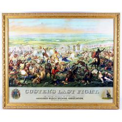 Custer's Last Fight Anheuser Busch Framed Print