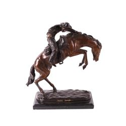 Frederic Remington Wooly Chaps Bronze