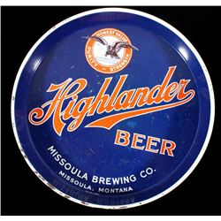 Missoula Brewing Co. Highlander Beer Tray Montana