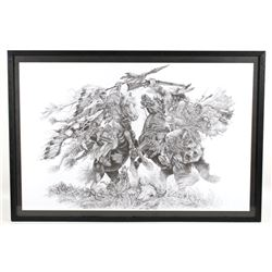 Linda-Bill O'Neill Lithograph Broken Treaties