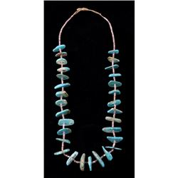 Early Navajo Royston Turquoise & Heishi Necklace