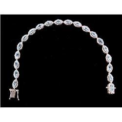 Acquamarine & Diamond Orianne Sterling Bracelet