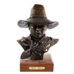 First Drive Bronze Bust By Roger Kruckenberg