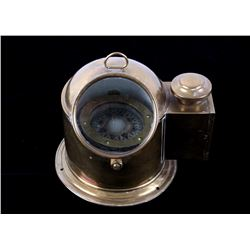 Authentic Brass Lifeboat Binnacle W/ Plath Compass