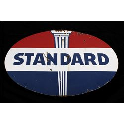 Standard Oil Company Large Metal Advertising Sign