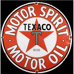 Texaco Motor Oil Porcelain Enamel Advertising Sign