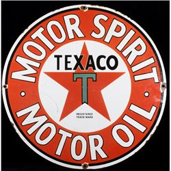 Texaco Motor Oil Porcelain Enamel Advertising Sign