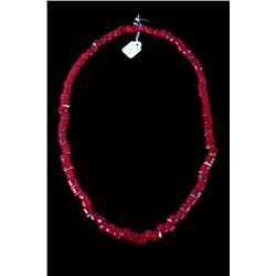 Hudson Bay Red White Heart Bead Necklace 17th-18th